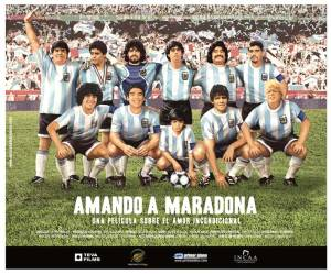 "Cartaz do filme ""Amando a Maradona"""