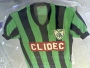 Camisa do América-MG, coleção de José Cássio Erbist, que foi exposta na expo Mania de Colecionar, no Museu do Futebol