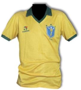 Camisa 3 da Seleção, usada por Oscar em 86. Coleção de Paulo Gini.