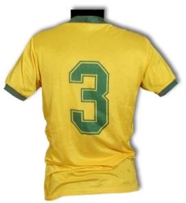 Camisa usada por Oscar na Copa de 86. Coleção de Paulo Gini