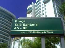 Praça com o nome do mestre, no Rio. FOTO Fut Pop Clube