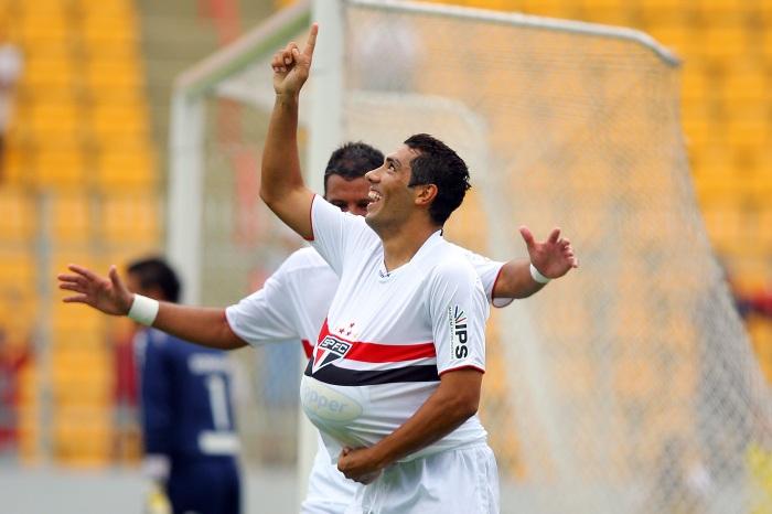 No último jogo pelo São Paulo, André Dias deixou seu gol de despedida. FOTO Gaspar Nóbrega VIPCOMM