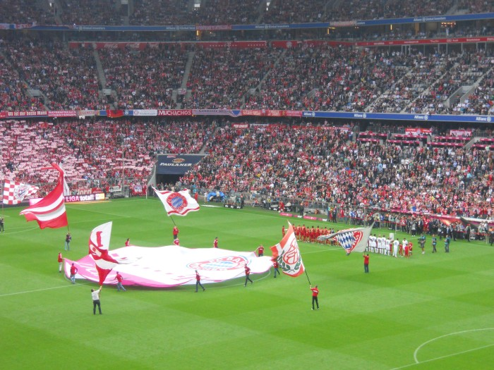 A Allianz Arena está sempre toda lotada nos jogos do Bayern de Munique
