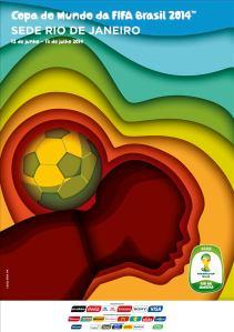 Poster oficial do Rio de Janeiro como cidade-sede