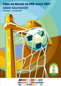 Poster oficial de Salvador, cidade-sede da Copa 2014