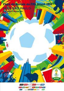 Poster oficial da cidade de São Paulo como sede da Copa 2014