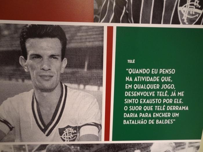 Foto tirada durante o rolê fo Fut Pop Clube pela Sala de Troféus do Fluminense