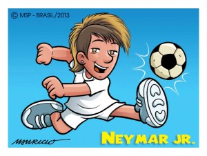 Neymar por Mauricio de Souza: figurinha em papel couchê