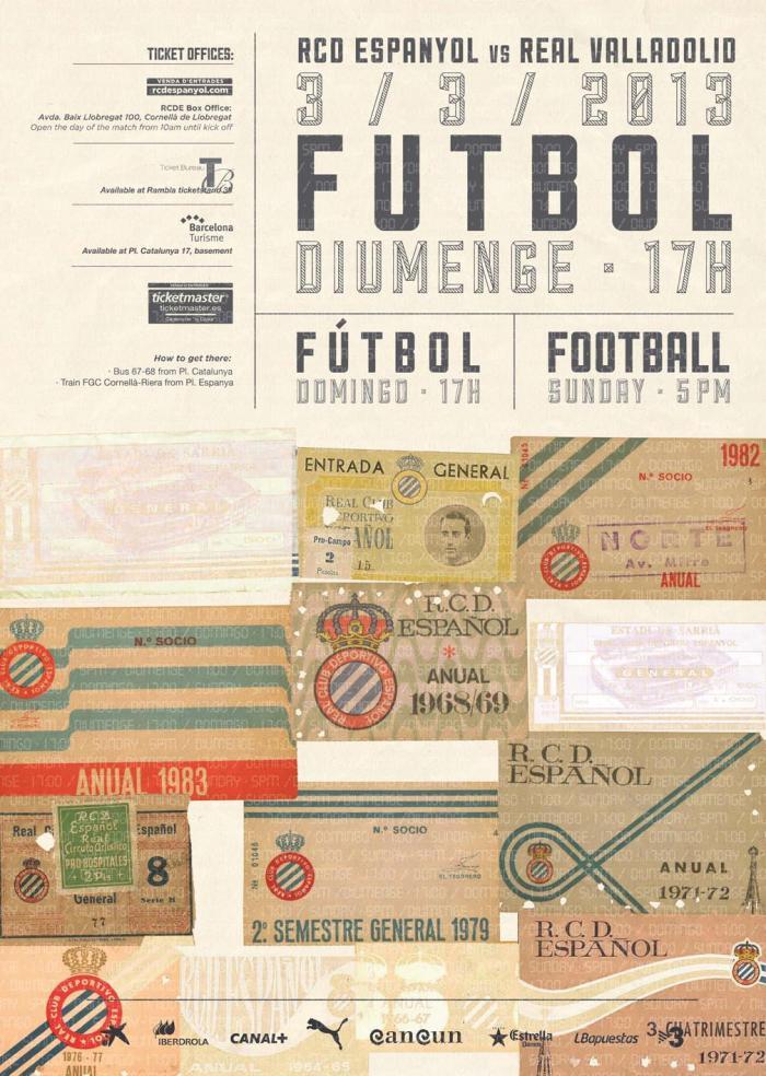 Poster do jogo, publicado em redes sociais pelo Espanyol