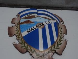 Um dos distintivos antigos do Málaga
