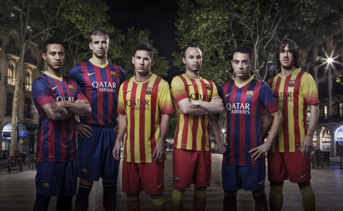 As novas camisas do Barça!
