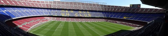 """Mosaico no Camp Nou: """"Barça, orgulho,Barça""""."""