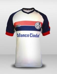 Camisa alternativa do Ciclón: http://sanlorenzo.com.ar/