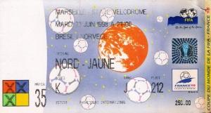 Memorabilia: Brasil 1 x 2 Noruega