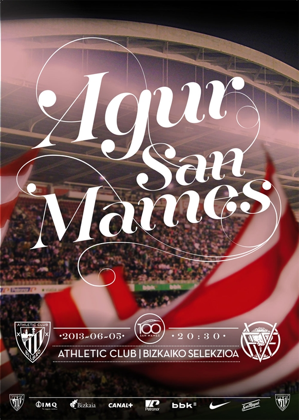 Cartaz do último amistoso em San Mamés. www.athletic-club.net