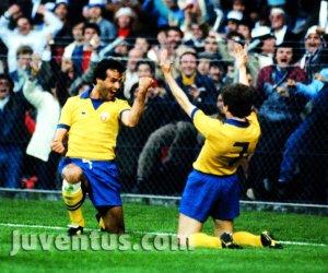 Juve campeã da Copa dos Vencedores de Copas em 1983/84.
