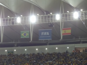 Tudo pronto para Brasil x Espanha