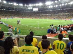 O gol-relâmpago abalou o time campeão do mundo.