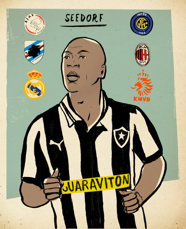 Clarence Seedorf por Lehel Kóvacs: http://www.kolehel.com/ – especial para o @FutPopClube