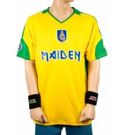 Maiden Brazil: legal pra usar na Copa, hein? FONTE: http://www.ironmaiden.com/maiden-brazil-football-shirt.html