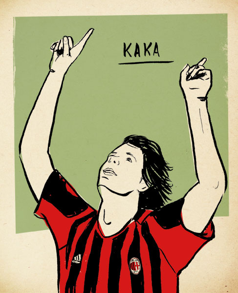 Kaká por Lehel Kóvacs:  http://www.kolehel.com/ - especial para o @FutPopClube