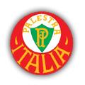 Distintivo institucional do Palestra Itália, de 1914 a 1942. Na camisa, o Palestra usava as iniciais P.I. - com exceção do período em que usou a Cruz de Savoia - fonte: Palmeiras.com.br