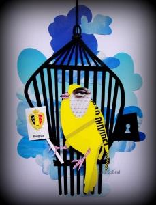 Um canário belga, na arte de Lais Sobral: www.flickr.com/photos/lais-sobral/