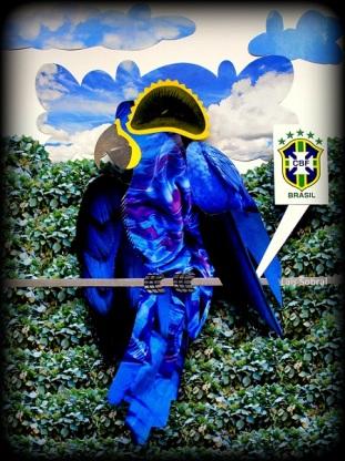 A arara azul representa o Brasil na coleção de artes de Lais Sobral para o blog @FutPopClube   http://www.flickr.com/photos/lais-sobral/