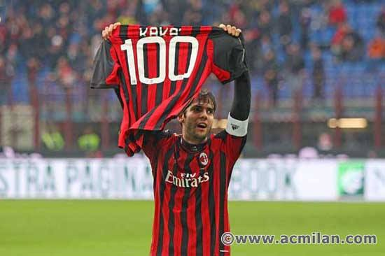 Milan em festa pela marca de Kaká: https://www.facebook.com/ACMilan