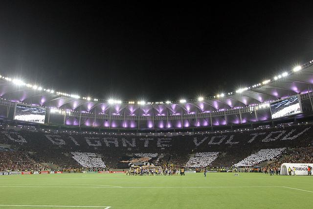 Torcida do Botafogo na goleada contra o Deportivo Quito pela Copa Libertadores da America, no Maracanã. 05 de fevereiro de 2014. Foto: Vitor Silva/SSPress. http://www.flickr.com/photos/botafogooficial/