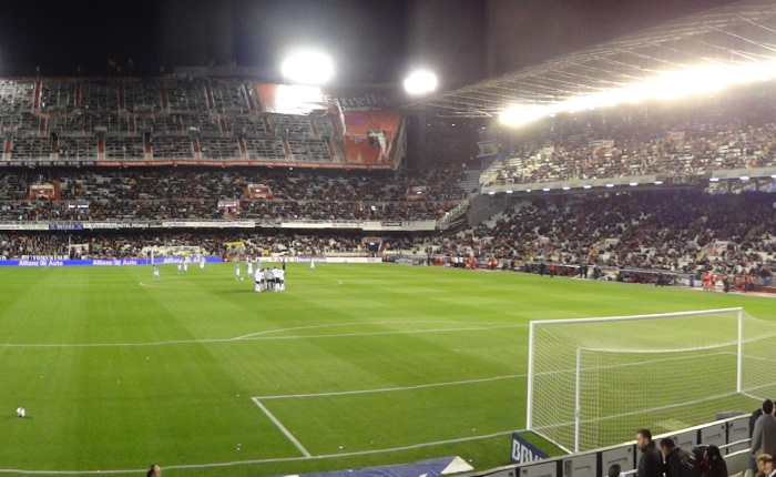 Camp de Mestalla, o estádio do Valencia.