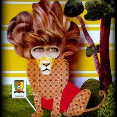 Indomável juba do leão que Lais criou para Camarões: www.flickr.com/photos/lais-sobral/