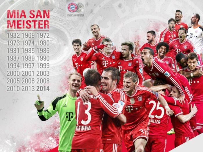 Os títulos de liga alemã do Bayern : https://www.facebook.com/FCBayern