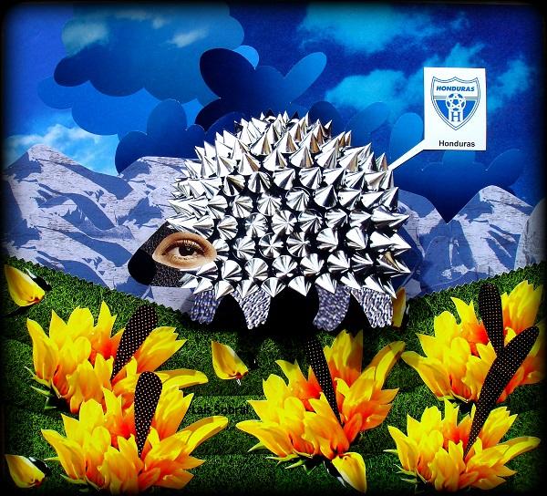 Um espinhoso mascote para a seleção de Honduras, na arte de Lais Sobral.