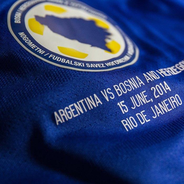 Camisa da Bósnia personalizada para o jogo no 'Maraca' : https://www.facebook.com/adidasFutebol?fref=photo