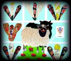 Mascotinha da Croácia bolada pela artista plástica Lais Sobral : https://www.flickr.com/photos/lais-sobral/