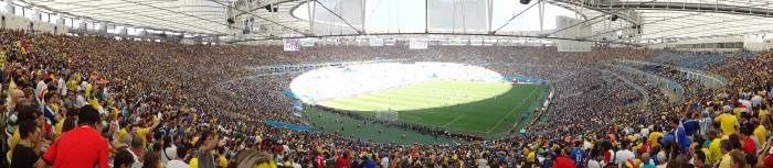 Maracanã em tarde de Alemanha 1 x 0França.