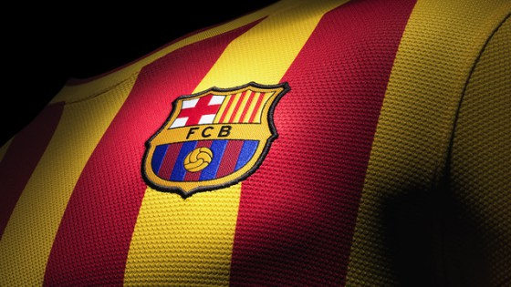 O Barça recupera o uniforme alternativo da temporada passada em homenagem à #Diada, a data nacional catalã (11/9) -