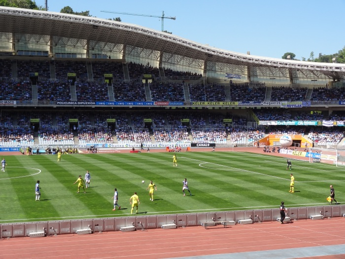 Anoeta, 18 de maio de 2014. Última rodada da liga das estrelas 2013-14. Real Sociedad 1x2 Villareal.