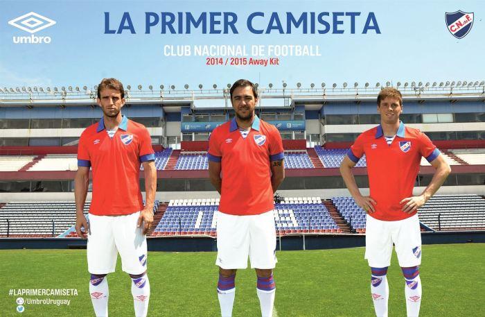 Novo uniforme 2 do Nacional lembra a primeira camiseta do #Decano do futeboluruguaio.