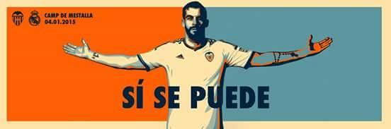 Pensamento positivo antes do jogão contra o Real, na página oficial do Valencia no Face: https://www.facebook.com/ValenciaCF/