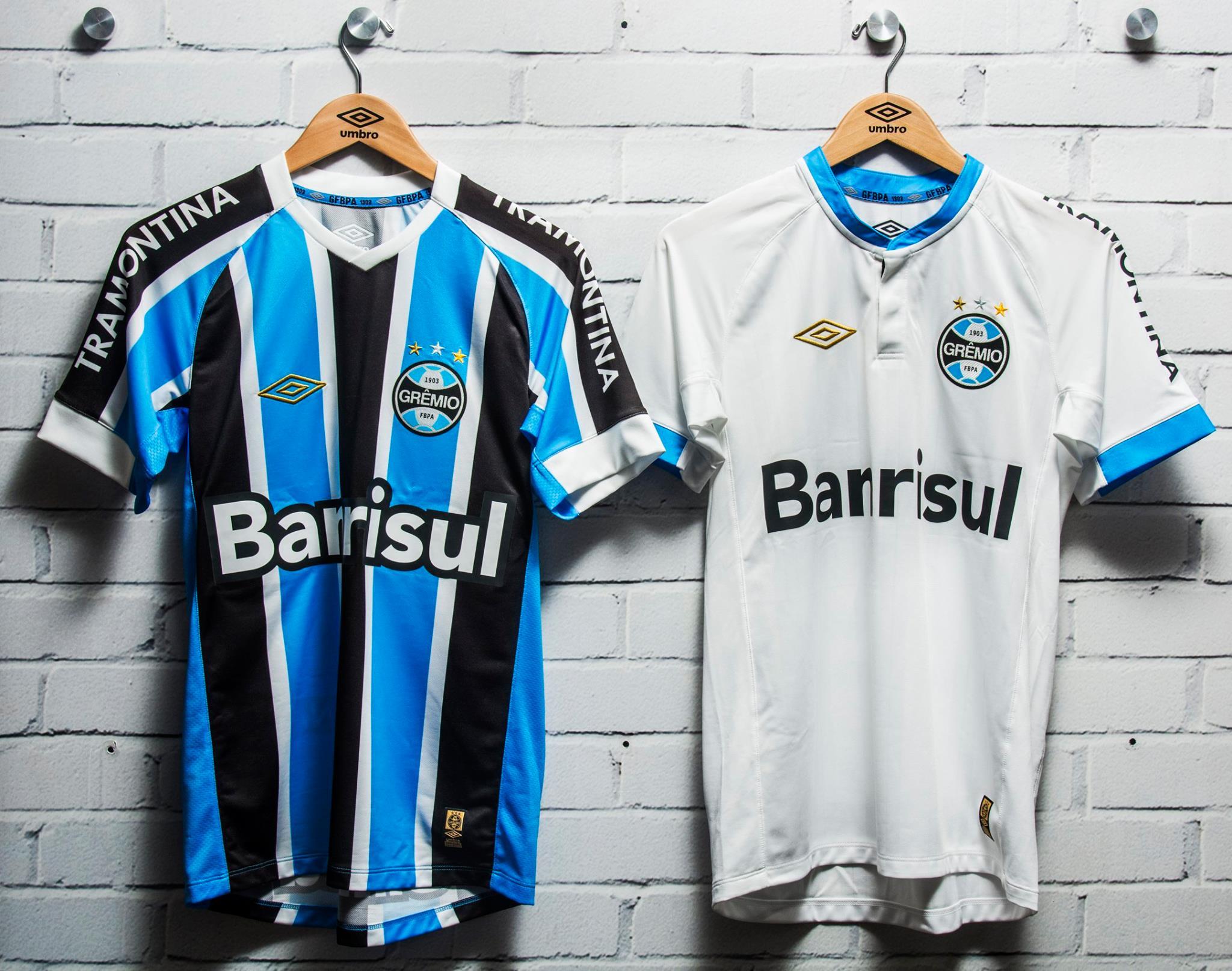 As camisas do Grêmio para 2015.  11572 10153113106189578 1034623487020400945 n ·  10923813 10153105091414578 697423552127242872 o ca2de07b15b6c