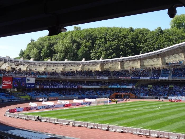Anoeta, casa da Real Sociedad, maio de 2014.