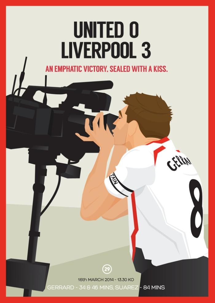 O cartão preferido de Dave Will: Gerrard beiha a câmera depois da goleada contra o Man United : http://davewilldesign.com/