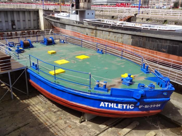 Gabarra Athletic, hoje no museu naval de Bilbao. FOTO @futpopclube