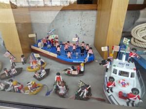 Gabarra de brinquedo, no Museu Marítimo de Bilbao