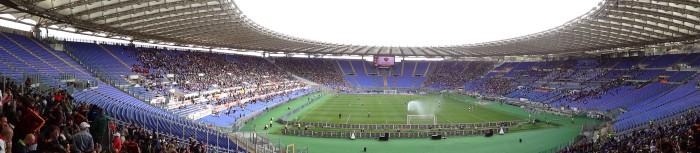 Calcio Populare Club: estádio Olímpico de Roma, em tarde de curva sul fechada. Roma 1×1 Atalanta,19/04/2015