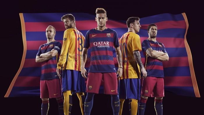 As camisas do Barça2015-16.
