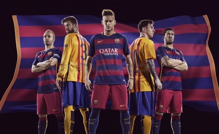 As camisas do Barça 2015-16.