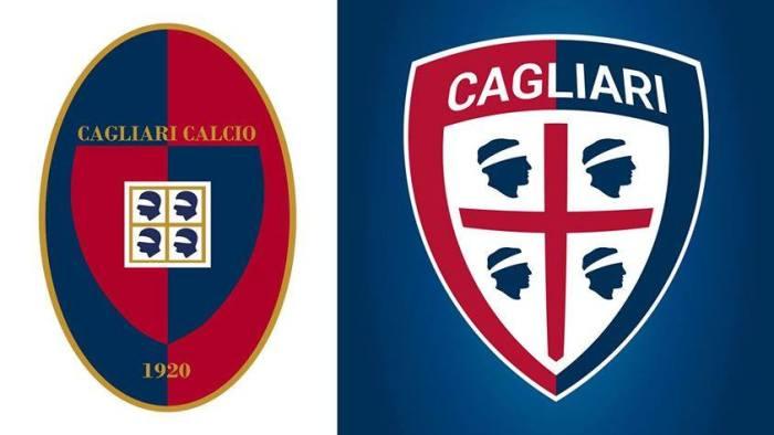 Escudinhos: o distintivo anterior e o novo do Cagliari
